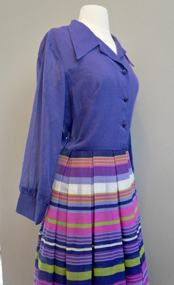 60's Vintage striped dress / Gown