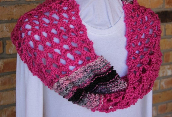 Knitting Pattern Knit Cowl Patterns Lace and by KimberleesKorner