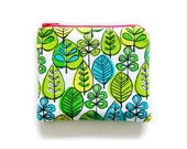 Zipper Pouch - Green Forest - Available in Small / Large / Long