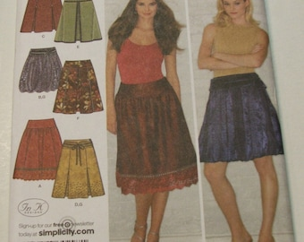 Simplicity 3924 Skirts and Belt Adult Size P5 12-20