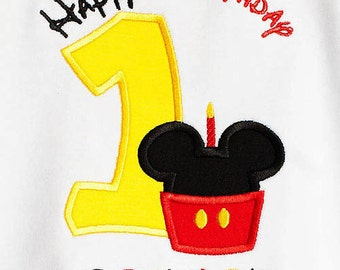Mickey Mouse Birthday Shirt, Mickey Mouse Birthday Number, Boys Birthday Shirt, Girls Birthday Shirt, Personalized Birthday Shirt