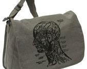 MEDICAL BAG -- Canvas messenger bag -- large field bag -- adjustable strap skip n whistle