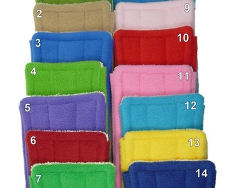 "6 FLEECE & TERRY Double Sided Reusable Swiffer Pads, EcoGreen Pads, washable Swiffer Sweeper pads, mop and dust pad, fits 10"" mop heads"
