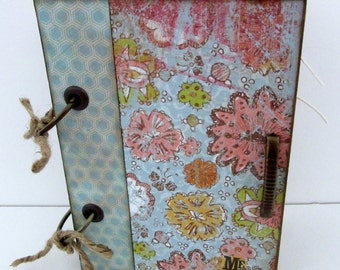 """SALE...SALE...Vintage Inspired Travel Journal """"Me & You"""" -- Scrapbook-40 Pages"""