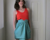 Heart Shaped Waistband Skirt - Seafoam Green