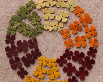 Autumn Harvest - Lilacs Value Pack - 144 Die Cut Wool Blend Felt Flowers