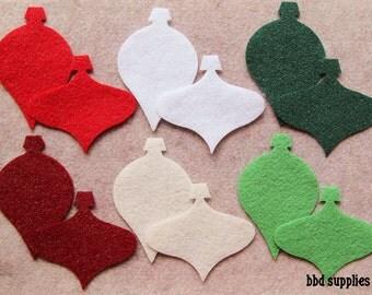 Festivus (ALL GLITTER) - Ornaments - 24 Die Cut Felt Shapes