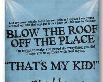 If You Could See Me Now / The Script / Lyric / DIGITAL Typography Poster