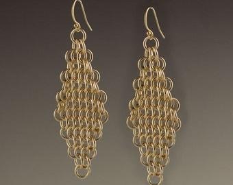 14k Gold Filled Mesh Earrings - size 8