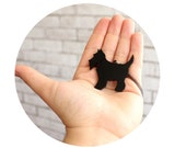 Scottie Dog Necklace, Dog Pendant, acrylic laser-cut black Scottie Dog, Black Dog, Household Pet, Domestic Animal, Made To Order, Teen Gift