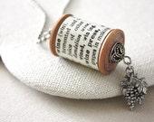 Wine Definition Jewelry Necklace / Vintage Wooden Spool Dictionary Definition Wine Necklace : Wooden Spool Necklace Wine Grapes Jewelry
