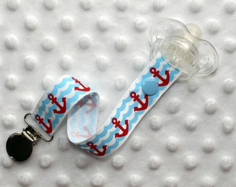 Anchor Waves Pacifier Soothie Clip