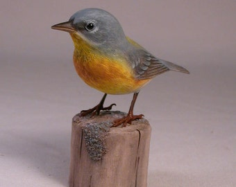 Northern Parula Wood Carving