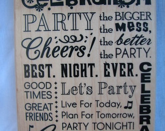 Celebrate - CELEBRATION - PARTY - Background Stamp - Momenta 2013 - Card Making - Crafts - Scrapbooking - New Tags