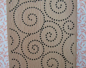 Dotted Swirls - Lines - Swirls - Rubber Stamp - Large Background Stamp - Invitations -  DIY - Holidays - Paper - New