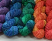 Kelpie Fibers hand dyed Bluefaced Leicester sport weight yarn - 50 g