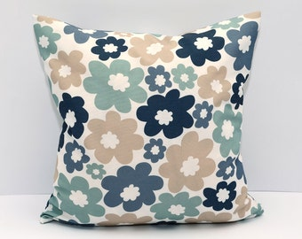 SALE SALE for Floral beautiful pillow cover Decorator Pillow Cover, Housewares, Home Decor, blue, brown, Indoor, Outdoor, Cushion