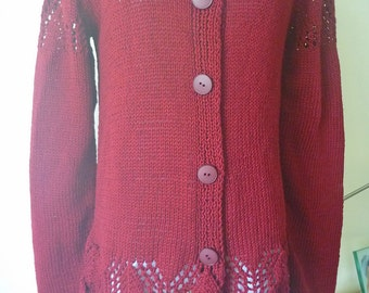 Garnet cotton-linen cardigan no. 234