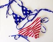 Patriotic USA flag bikini