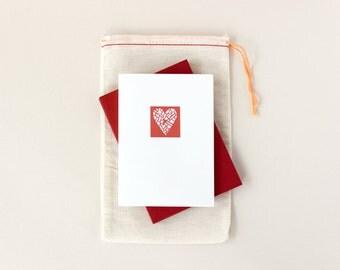 Valentine: Heart Map Notecard Set