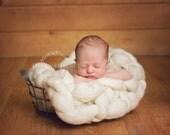 Natural Cream Undyed Bump Newborn Photography Prop Mat Wool Knit Unsex baby boy girl