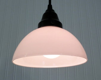 Milkglass PENDANT Light Hanging Fixture
