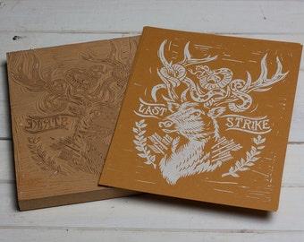 Last Strike - Orange Block Print