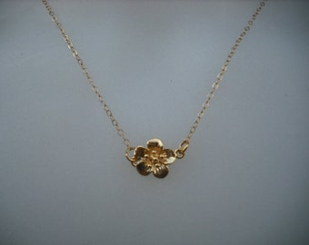 cherry blossom necklace -  14K gold filled chian
