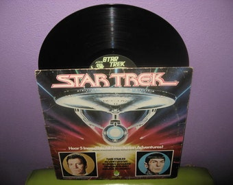 FINAL SALE Vinyl Record Album Star Trek Five Complete Stories 1979 Childrens Classic Sci Fi
