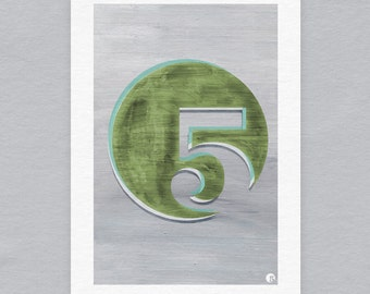 Five! - Limited edition A3 print