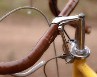 "Leather Handlebar Tape - The ""Sew-on Bar Wraps"" - Leather Bicycle Handlebar Wraps"