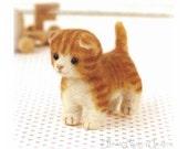 Japanese Needle Wool Felt Mascot DIY Kit -  Munchkin Cat - Sachiko Susa - Kawaii Hamanaka - Easy Felting KIt - Kawaii Animal Cat - F16