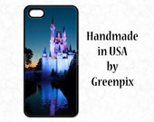 Disney Galaxy S5 S6 phone case, iPhone 4 4s, 5 5s 5c, 6 6S,  princess Cinderella Castle photo, Disneyworld, Magic Kingdom, evening, sunset