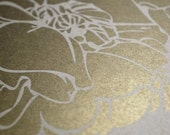 Metallic Gold Offset Printed by Jennifer Raichman - Simply Peony