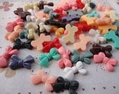 30pcs 15mmx24mm assorted colors resin/plastic bowknot bow knot charm