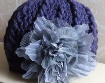CROCHET PATTERN - Bryony Cabled Cloche Hat - Birth to 12 months/1 year