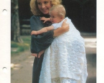 KNITTING PATTERN - Baby and Children's Christening Shawl Immediate DOWNLOAD