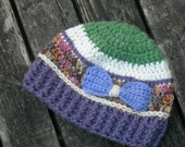 Molly Weasley's Scrappy Beanie - Purple and Green