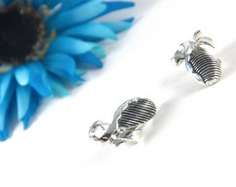 Vintage Black and Silver Clip On Earrings, ribbon, stripes, striped, costume jewelry, women's ladies, retro, oval