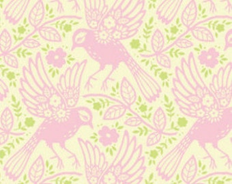 Up Parasol, from Heather Bailey and FreeSpirit/Westminster fabrics, Meadowlark in Pink, 1/2 YARD