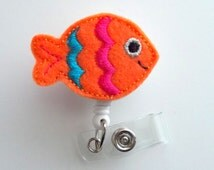 Unique felt fish related items etsy for Blue fish pediatrics memorial
