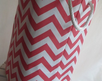 Laundry Hamper, baby hamper, Toy Storage, Chevron 12 x 10 x 20  Choose your colors water repellent linings available