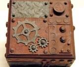 Steampunk Style Treasure Box Small Jewelry Assemblage