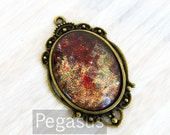 Comet Red Glass OVAL Cabochon Pendants (1 Piece,40x30mm)(LF09) Fantasy Galaxy Jewelry pendant costume,wedding favors