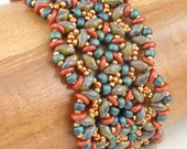 Beading Tutorial for Gritty Tweed Bracelet, jewelry pattern, beadweaving tutorials, instant download, PDF