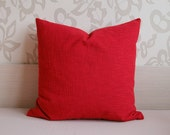 Red Pillow Decorative Throw Pillow Cover 22'' x 22'' (56 cm x 56 cm) Upholstery Fabric