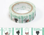 Shinzi Katoh Masking Tape - Cooking- for scrapbooking, birthday party favor, gift wrapping, craft projects