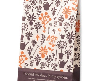 Beautiful Japanese Garden Series Paper Bag Set of 10 for holiday packaging, party favor, wedding