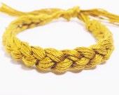 10 Gold Bracelets Crocheted Child Cancer Awareness Color Bracelet  - Qty 10 Bulk