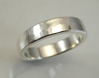 sterling silver wedding band hammered band custom wedding band metalwork metalsmith jewelry